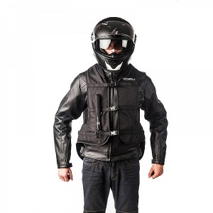 Gilet airbag helite turtle noir